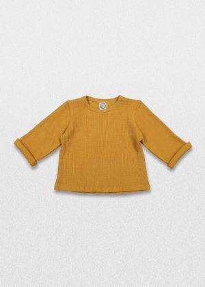 Camisola amarela mostarda